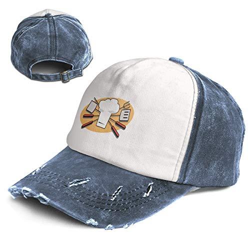 Liusgit BBQ Clipart Border Men for Baseball Hat Adults Dad Trucker Youth Softball Cap Navy
