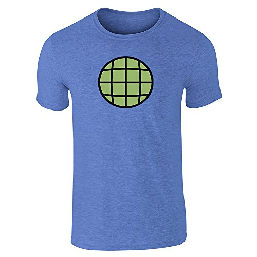 Planeteer Costume Heather Royal Blue M Short Sleeve T-Shirt by Pop Threads
