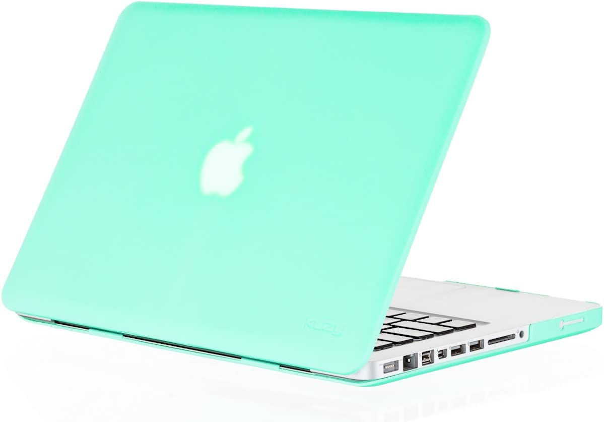 Kuzy Compatible with MacBook Pro 13.3 inch Case A1278 Older Verision, Rubberized Matte Cover Hard Shell Case for MacBook Pro 13 inch with CD-ROM Release 2012-2008, Mint Green