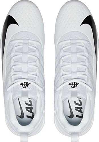 ... Nike Menns Alfa Huarache 6 Pro Lacrosse Cleats Oss) Hvit / Svart