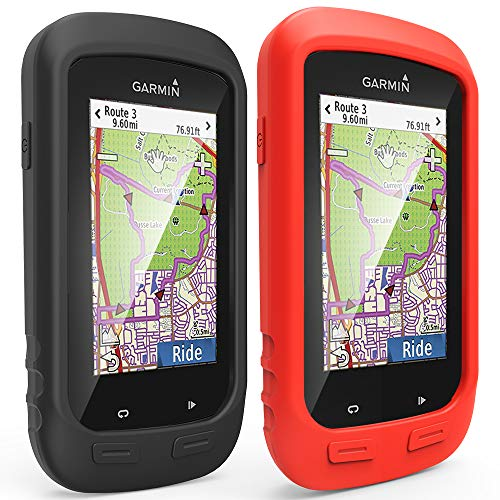 [2-Pack] TUSITA Case for Garmin Edge Explore 1000, Approach G8 - Silicone Protective Cover - GPS Bike Computer Accessories