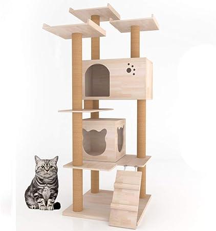 TIANPIN - Estantería para Gatos con Forma de Torre para ...