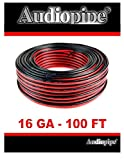 Audiopipe 100' Feet 16 GA Gauge Red Black 2 Conductor Speaker Wire Audio Cable