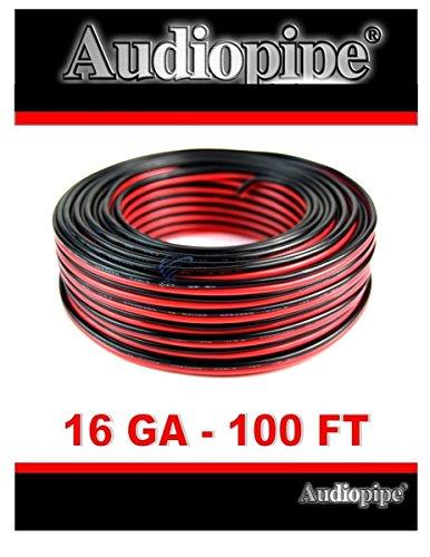 Audiopipe 100' Feet 16 GA Gauge Red Black 2 Conductor Speaker Wire Audio Cable -