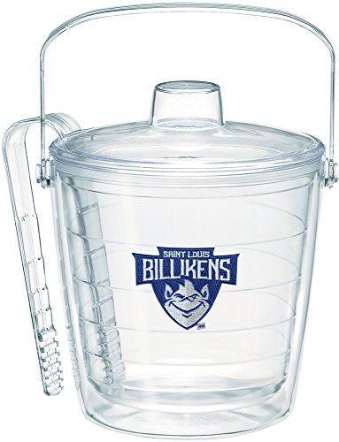 Tervis 1227553 Saint Louis Billikens Primary Logo Ice Bucket with Emblem and Clear Lid 87oz Ice Bucket, Clear