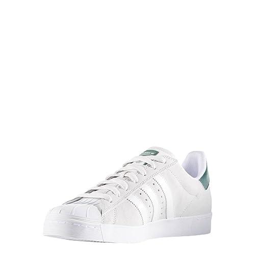 premium selection c74bf 4ce8b adidas Skateboarding Superstar Vulc ADV, crystal whiteftwr  whitecollegiate green, 4 Amazon.it Scarpe e borse