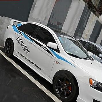 Car sticker decal automobile decor sports racing stripe for mitsubishi lancer ex galant delica