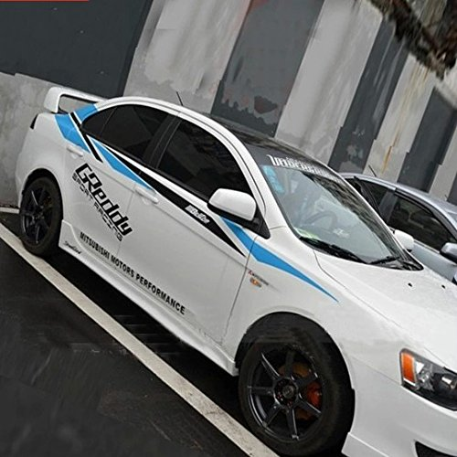 car sticker decal automobile decor sports racing stripe for mitsubishi lancer ex galant delica. Black Bedroom Furniture Sets. Home Design Ideas