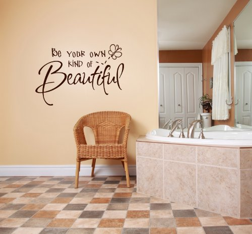 Design with Vinyl Be Your Own Kind Of Beautiful Picture Art - Kids Girls Bedroom - Peel & Stick Sticker - Vinyl Wall Decal Size: 20x20 Color: Brown Brown
