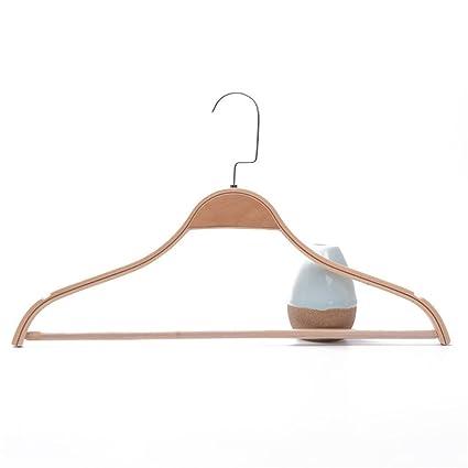 LY-Perchas para trajes Perchas de madera, paquete de 20 ...