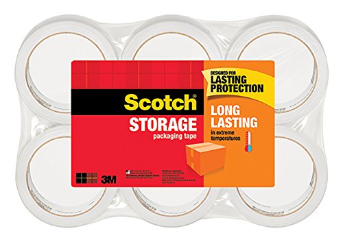 Storage Court Equipment - Scotch Long Lasting Storage Packaging Tape, 1.88 Inches x 54.6 Yards, 6 Rolls (3650-6)