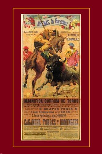 VINTAGE SPANISH ARENAS DE BARCELONA BULLFIGHT corrida poster matador - Matador Poster Art