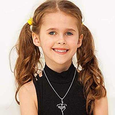 3 Pieces Ballerina Necklace Ballet Dance Pendant Necklaces Crystal Ballet Dancer Necklace Charms Jewelry Gifts for Birthday Party and Goodie Bag Fillers: Toys & Games