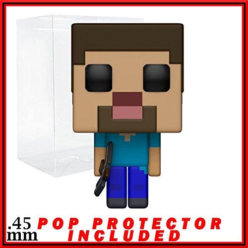Funko 8-Bit Pop! Games: Minecraft - Steve Vinyl Figure (Bundled with Pop Box Protector - 8 Minecraft Bit