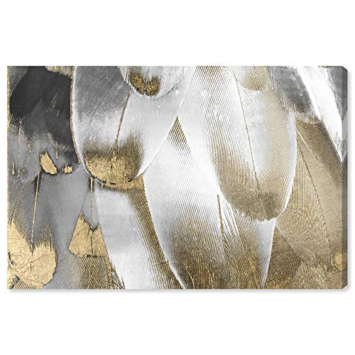 The Oliver Gal Artist Co. Fashion and Glam Wall Art Canvas Prints 'Royal Feathers' Home Décor, 24