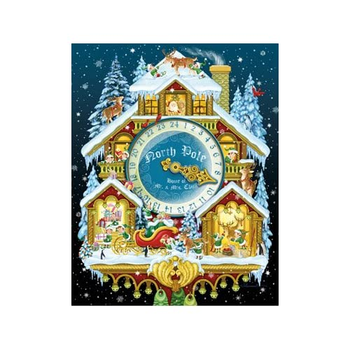 Christmas Cuckoo Clock Advent Calendar with Spinner