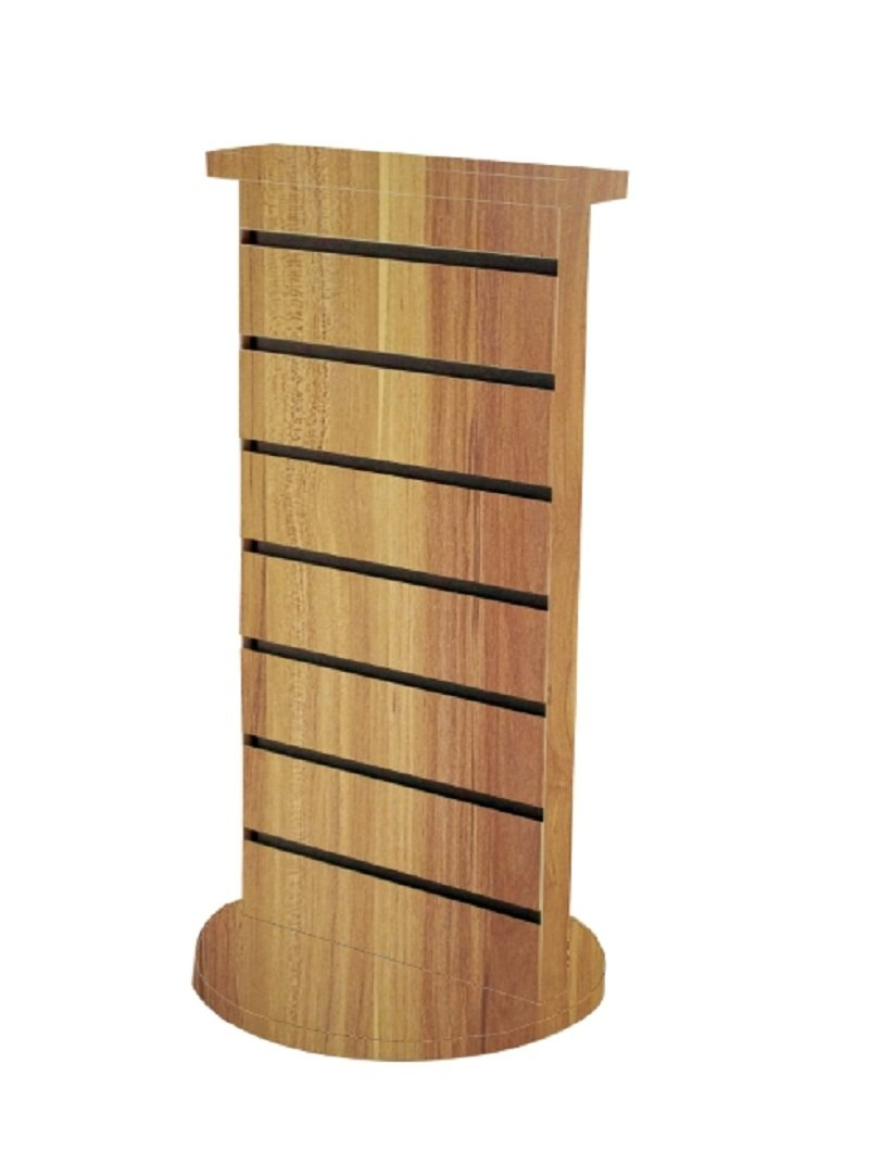 FixtureDisplays 2-Sided Slatwall Counter Spinner Maple Display Rack Great for Gift, Jewelry 15592-APPLE