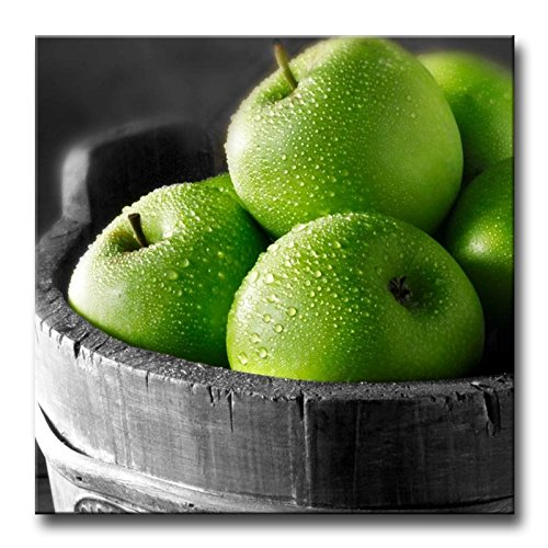 (So Crazy Art Green Wall Art Painting Green Apples In The Basket Pictures Prints On Canvas Food The Picture Decor Oil For Home Modern Decoration Print )