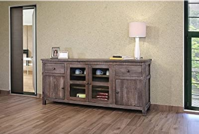 Greenview Weathered Gray TV Stand - 80 INCH