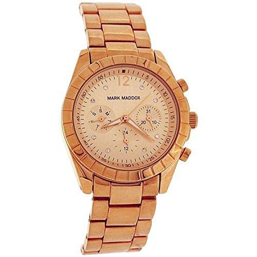 Mark Maddox Ladies Goldtone Multifunction Dial Bracelet Strap Watch MM3010-95
