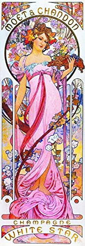 ShopForAllYou Posters & Prints Wall Poster Moet & Chandon White Star Champagne 1899 Alphonse Mucha