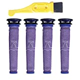 GIBTOOL 4 Pack Washable Pre Motor Filter for Dyson DC58 DC59 V6 V7 V8 Cordless Vacuum Cleaners,4 Filters Replacements Part # 965661-01