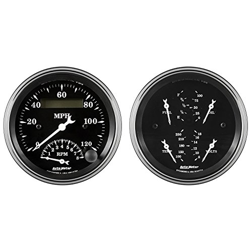 Auto Meter AutoMeter 1720 Gauge Kit, 2 Pc, Quad & Tach/Speedo, 3 3/8