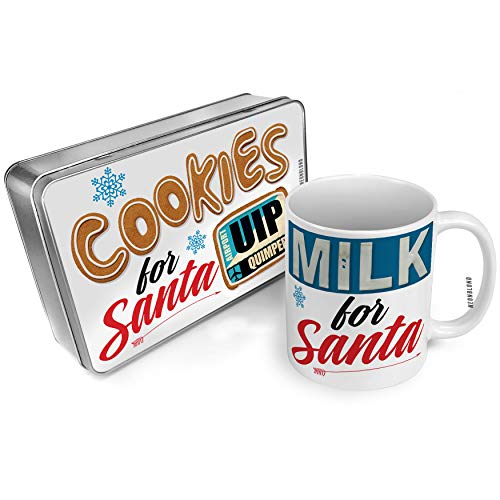 NEONBLOND Cookies and Milk for Santa Set Airportcode UIP Quimper Christmas Mug Plate Box