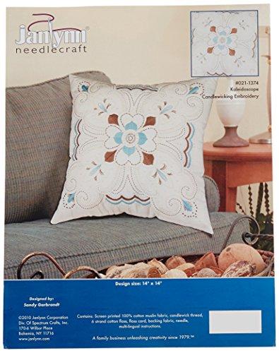 Janlynn Kaleidoscope Pillow Candlewicking Embroidery Kit-14