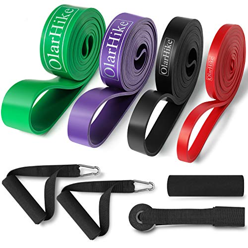 OlarHike Resistance Bands Exercise Bands Pull-Up Bands with 2 Foam Handles, Band Guard, Door Anchor for Stretching, Exercise, and Assisted Pull Ups