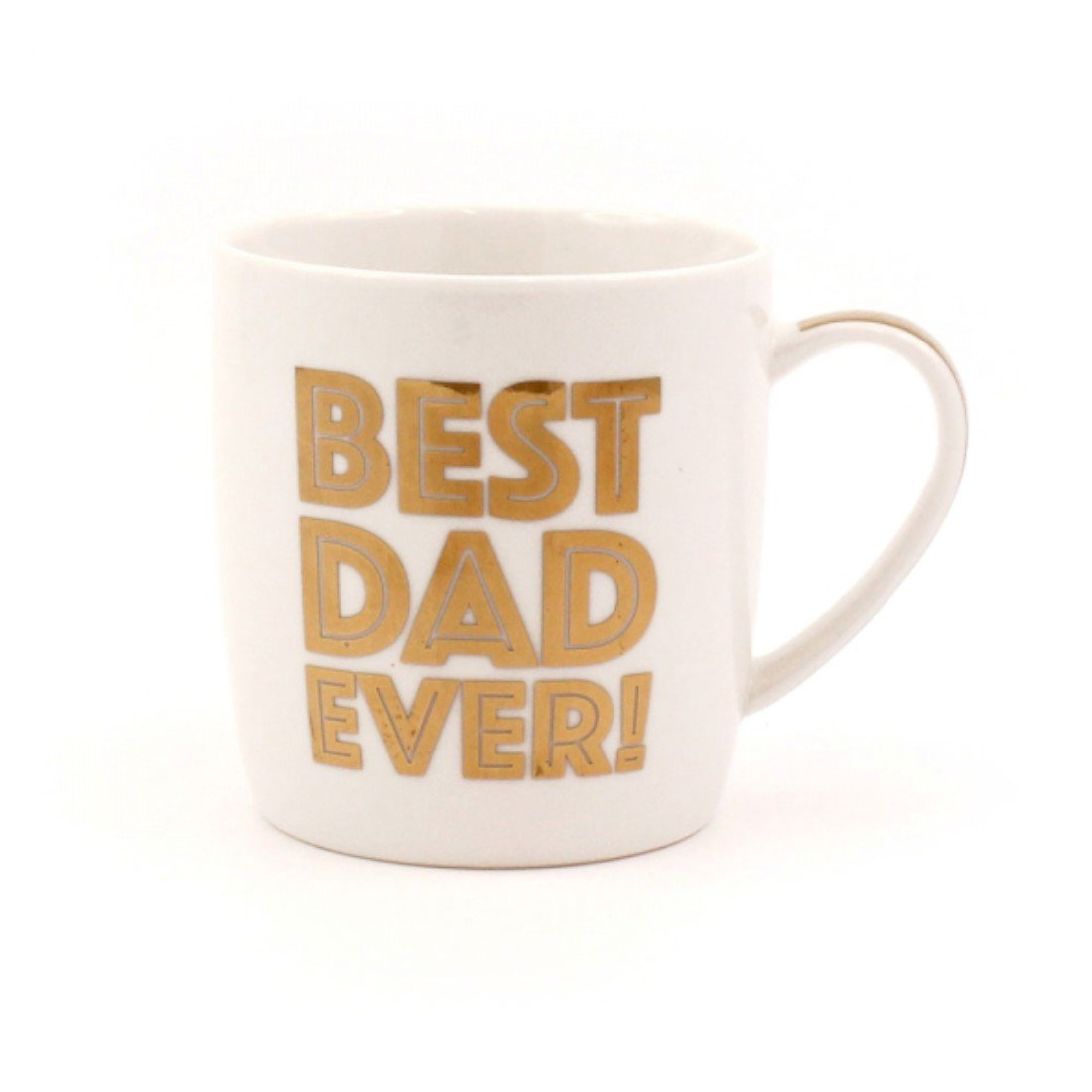 """Best Dad Ever"" White & Gold Fun / Cheeky Fine China Mug with Presentation Box GiftRush"
