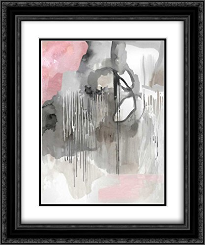 Amazon Com Muted Abstract 2x Matted 20x24 Black Ornate