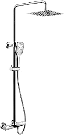 WELQUIC Columna de ducha con mezclador termostático, Columna de ...