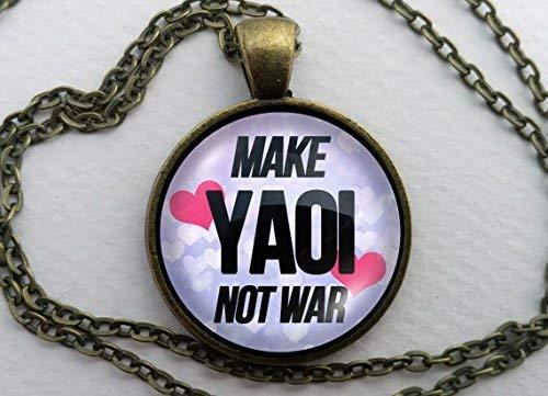 Collar Yaoi, colgante de cúpula de cristal