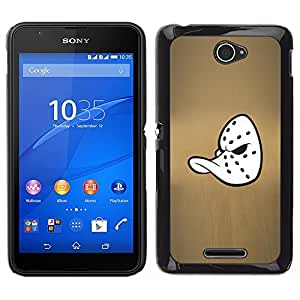 Design for Girls Plastic Cover Case FOR Sony Xperia E4 Mighty Duck Hockey Mask OBBA