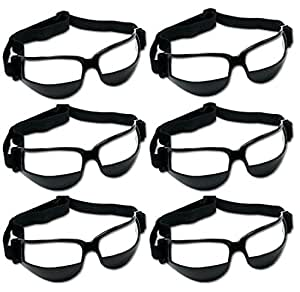 Unique Sports 6 Pack Dribble Specs Basketball Training Aid, Black, One Size Fits All