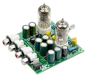 iHaospace 6J1 Tubo Preamplificador Junta Preamplificador Pre Amp Tubo Amplificadores Junta HiFi Buffer Preamp DIY Audio