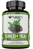 Nature's Garden Green Tea Extract Supplement – EGCG for Healthy Weight Loss – Increase Metabolism – Promotes Healthy Heart – Antioxidant – Natural Caffeine – Non GMO – 500mg