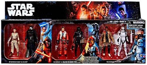 Star-Wars-The-Force-Awakens-Rey-vs-Kylo-Ren-Poe-vs-Tie-Fighter-Pilot-Finn-vs-FN-2199-Exclusive-375-Action-Figure-6-Pack