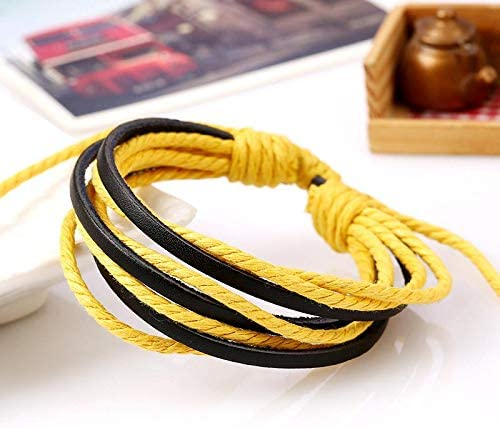 Weimay Casual Bracelets Vintage Bracelet Push-Pull Bracelet Hand-Woven Bangle Charm Bracelet Best Friends Bangle for Daily Life Gift