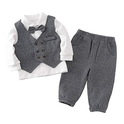 Famuka Baby Jongens Romper Kleding Tuxedo Doop Trouwpak Babykleding Set