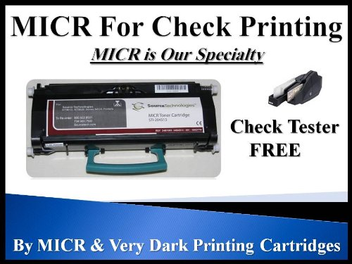Source Tech Technologies ST9612 ST9620 STI-204513 Genuine Original MICR Toner Cartridge for Check Printing. 3K by MICR & Very Dark Print Cartridges