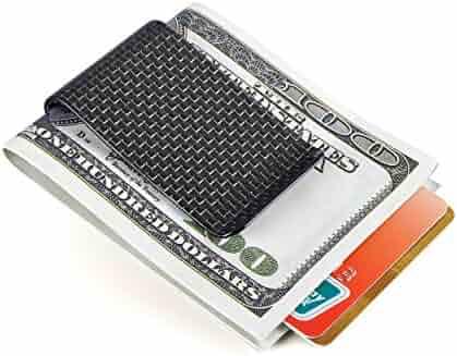 Carbon Fiber Money Clip Credit Card holder-CL CARBONLIFE Business Card Holder Clips for men