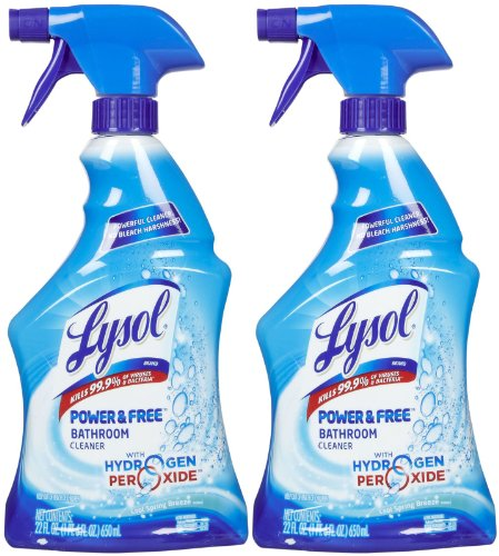Lysol Bathroom Cleaner with Hydrogen Peroxide - Cool Spring Breeze - 22 oz - 2 pk