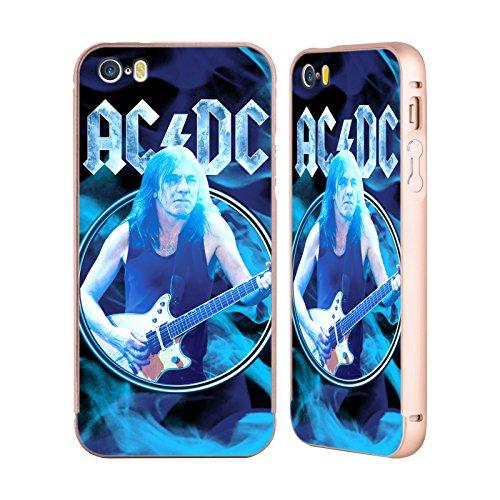 Officiel AC/DC ACDC Malcom Jeune Solo Or Étui Coque Aluminium Bumper Slider pour Apple iPhone 5 / 5s / SE