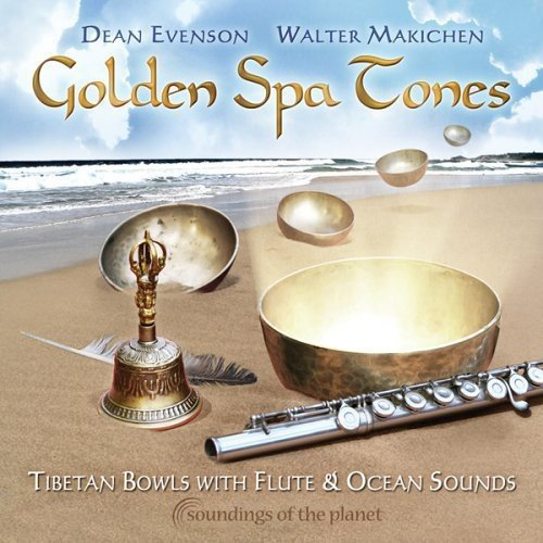 Golden Spa Tones: Tibetan Bowls with Flute & Ocean
