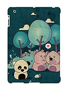 Ideal Gift - Tpu Shockproof/dirt-proof Lonely Panda Cover Case For Ipad(2/3/4) With Design