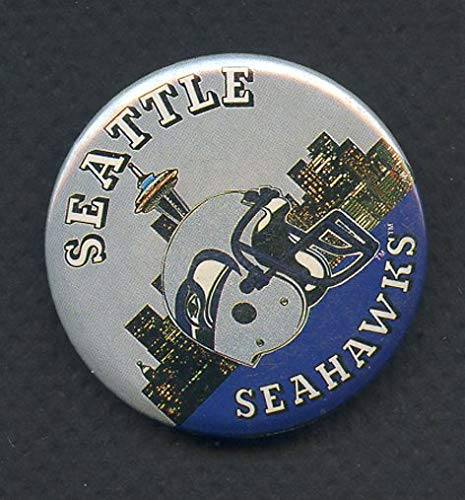 (Vintage Seattle Seahawks Booster Button 365827 Kit Young Cards)