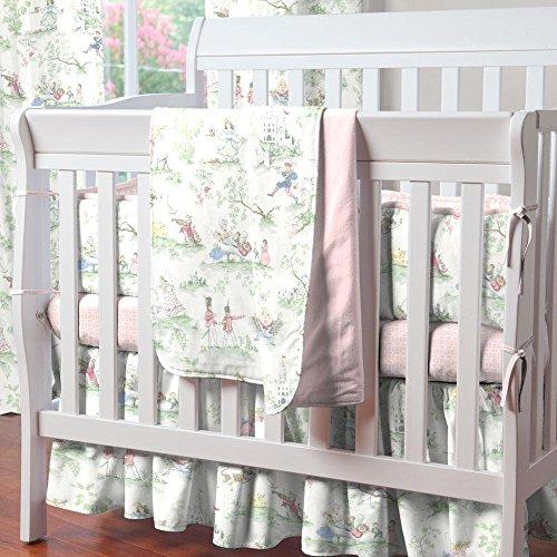 Carousel Designs Pink Over The Moon Toile Mini Crib ()