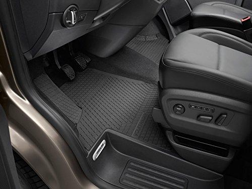 Volkswagen 7H1061502B82V Allwettermatten 2x Gummimatten vorn Original T5/T6 Gummi Fuß matten schwarz mit Schriftzug